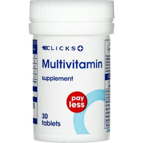 Clicks Pay Less Multivitamin Supplement 30 Tablets   Clicks