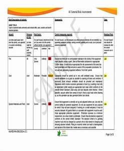 risk assessment form template With electricians risk assessment template