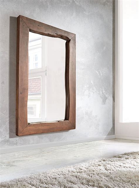 specchi con cornice in legno specchio in legno cornice legno massello di castagno l120 h160
