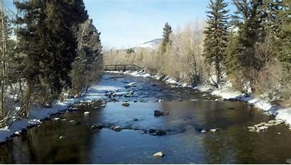 River Fishing Fly Colorado Winter Fisherman Breckenridge
