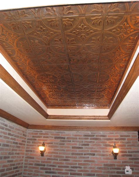 faux metal ceiling tiles copper ceiling tiles kitchen traditional with bar bar