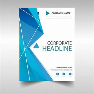 polygonal annual report book cover template vector free With book cover page design templates free download