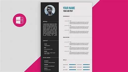 Resume Photoshop Template Cv Templates Psd Tutorial