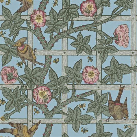 Morris & Co  Trellis Wallpaper