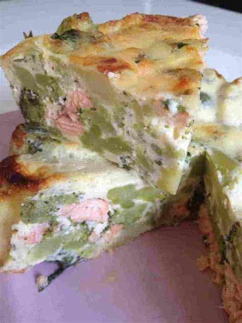 quiche sans p 226 te brocolis saumon et sa cuisine gourmande et l 233 g 232 re