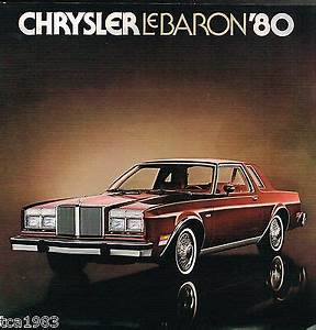 1980 Chrysler Lebaron Brochure  Catalog With Color Chart Le