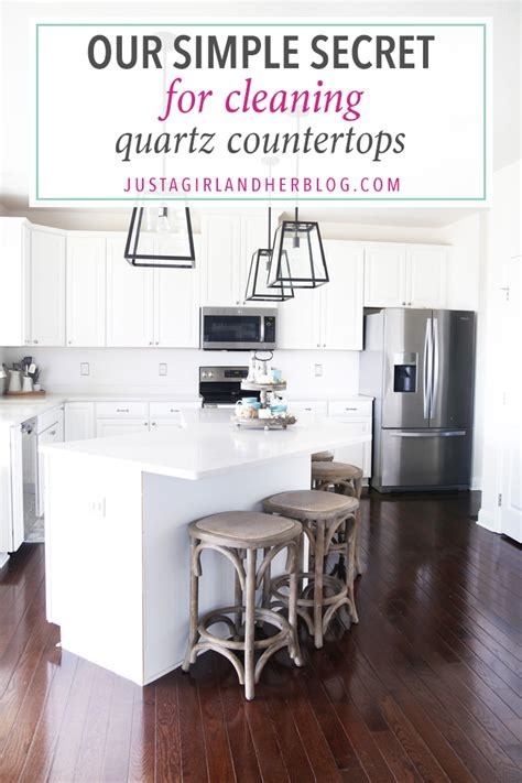 how to clean quartz countertops our simple secret for cleaning quartz countertops just a