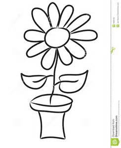 Draw Flowers Pot Drawing
