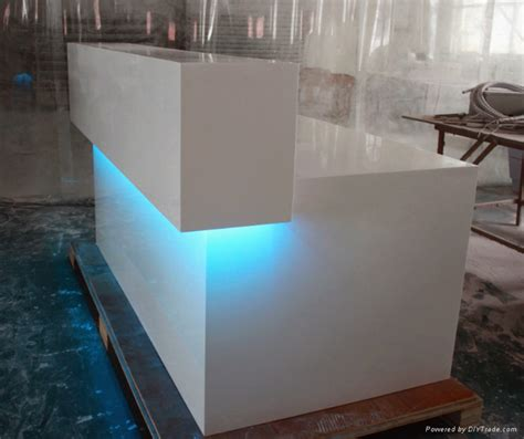 tw artificial simple design white reception counter
