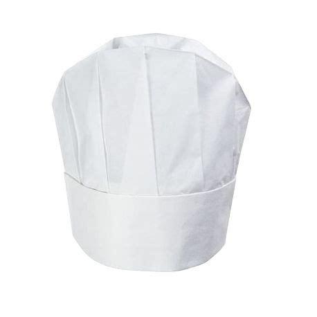 tablier de cuisine toque de chef jetable modèle arrondi blanc 23cm