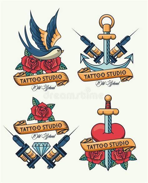 sword  heart tattoo studio image artistic stock vector