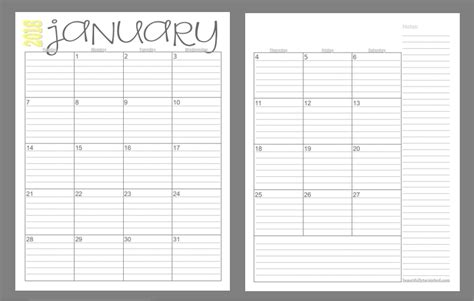 pages  month  calendars  ready
