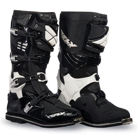 moto racing boots sector black boot fly racing motocross mtb bmx
