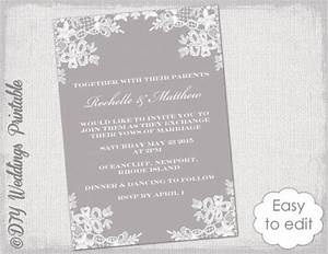 wedding invitation template diy quotfloral lacequot wedding With wedding invitation video online editing
