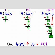 Decimals  Cool Math Prealgebra Help Lessons  How To Divide A Decimal By A Decimal