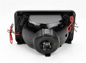4x6 U0026quot  Halogen Semi Sealed H4 Led Angel Eye Clear Headlight