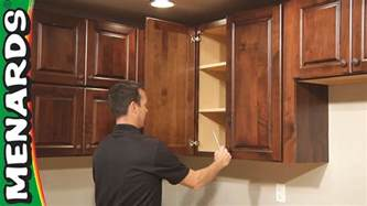 How Do You Install Kitchen Cabinets by Kitchen Cabinet Installation How To Menards Youtube