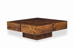 Couchtisch Holz Modern : woodkings couchtisch amberley 80x80cm holz akazie braun echtholz modern design massivholz ~ Markanthonyermac.com Haus und Dekorationen
