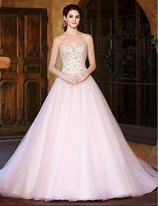 bridal gowns brides pink irish modern beaded weddingdress With pink beaded wedding dress