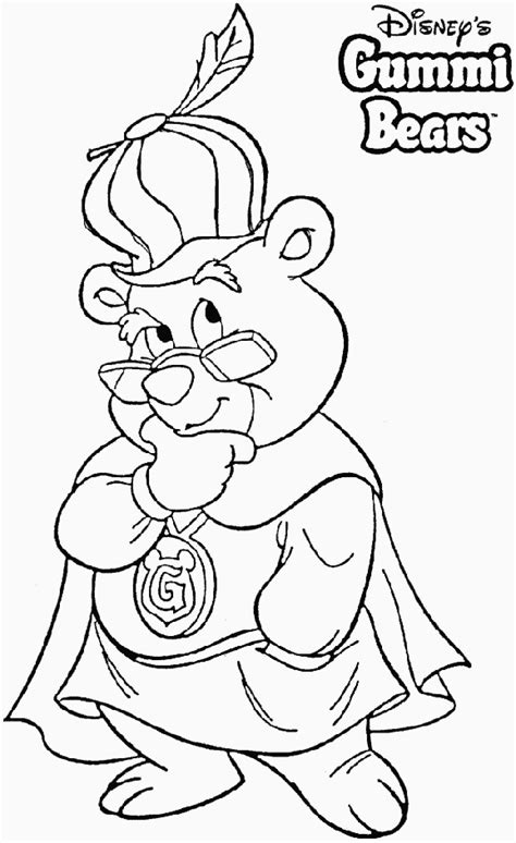 gummi bears coloring pages coloringpagesabccom