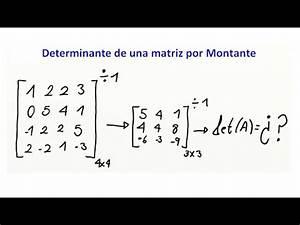 Determinante Berechnen 4x4 : determinante de una matriz 4x4 por montante youtube ~ Themetempest.com Abrechnung