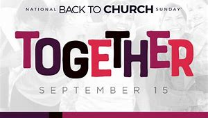 Image result for back to church 2019