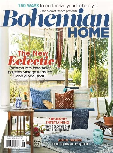 home decor magazine flea market d 233 cor magazine fmd bohemian home 2017