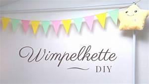 Girlande Basteln Vorlage : wimpel girlande aus papier diy leicht ~ Watch28wear.com Haus und Dekorationen