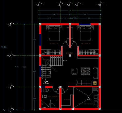 American Style House 2D DWG Plan for AutoCAD ? Designs CAD