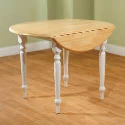 round drop leaf dining table white natural walmart com