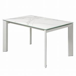 Esstisch Weiß Grau : esstisch rineo mit ausziehfunktion keramik stahl wei grau 160 x 90 cm fredriks ~ Markanthonyermac.com Haus und Dekorationen