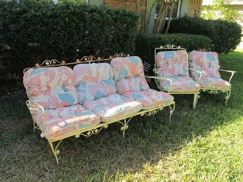 vintage wrought iron patio furniture couch chair rocker w