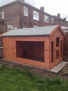 Dog kennels runs for sale uk for Cheap dog sheds