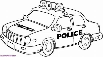 Police Cars Pages Clipart Colouring Colour Library
