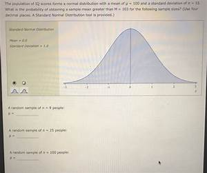 Solved: The Population Of IQ Scores Forms A Normal Distrib ...