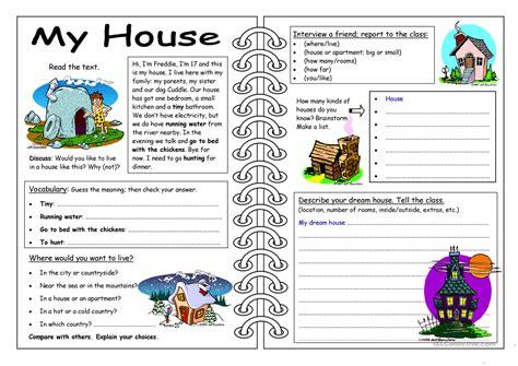 skills worksheet  house worksheet  esl