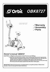 Orbit Obk8727 Exercise Bike Owner U0026 39 S Manual Pdf View  Download