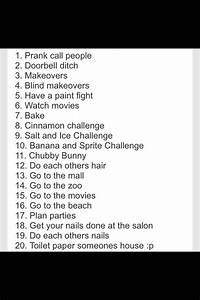 You And Your Friends Bored 100 Thing You Can Do Girls