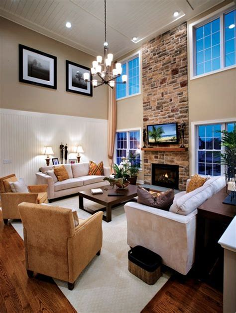 toll brothers  story family room interior design ideas