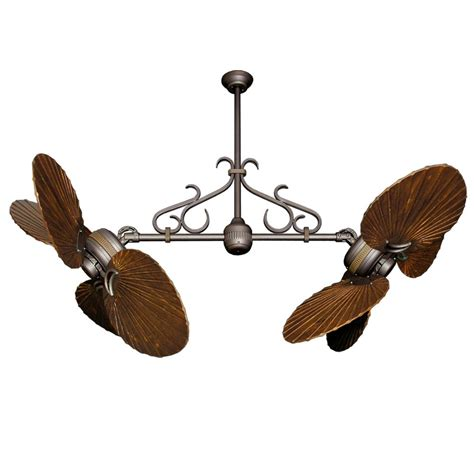 ceiling fan with double twin star ii dual motor ceiling fan with solid wood carved