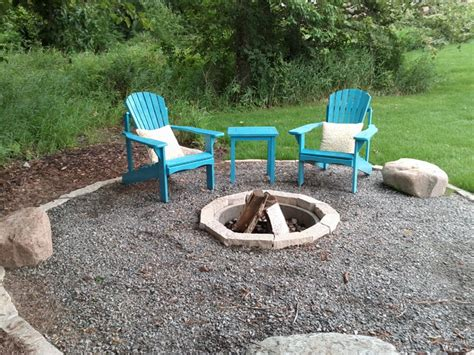crushed rock patio outdoor living space traditional patio minneapolis