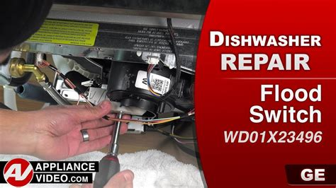 ge dishwasher flood switch assembly problem repair