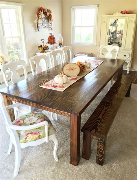 shabby chic dining table plymouth french country farmhouse table wood table dining room shabby chic rustic chic rustic