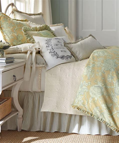 rustic bedroom toile bedding