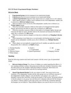 Experimental Design Worksheet Answers Experimental Design Pictures To Pin On