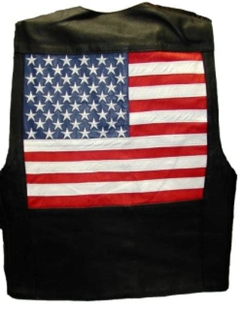 american flag leather vest xxs  mc
