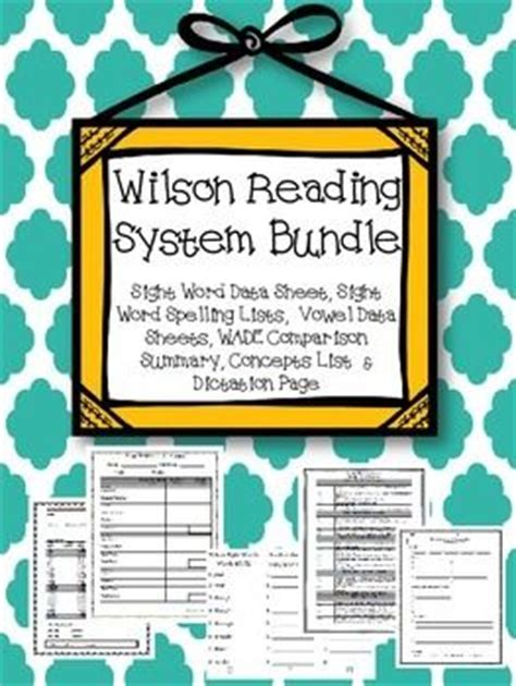 wilson reading system worksheets the large and most