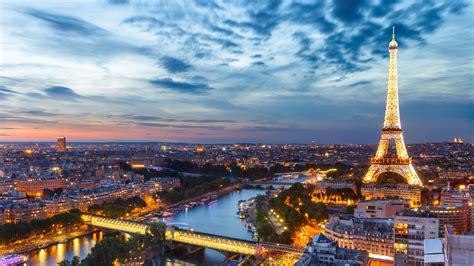 aerial view  lighting eiffel tower  paris city