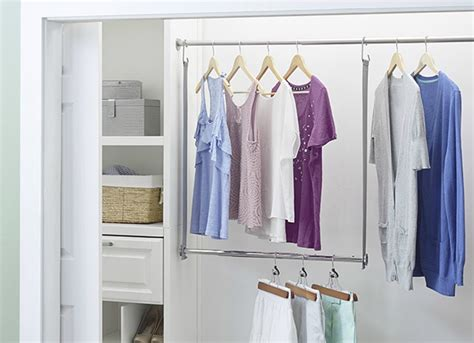 your closet space with a diy rod declutter your