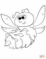 Coloring Cute Cartoon Bumblebee Pages Bees Bee Bumble Printable Drawing Getdrawings Template Letter Categories Sketch sketch template